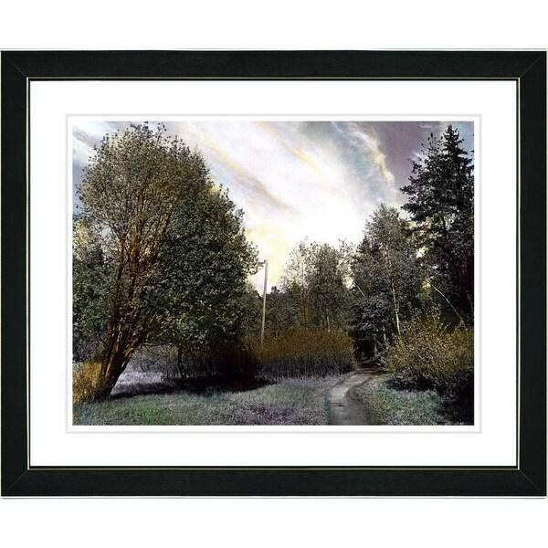 Studio Works Modern 'Forest Path' Framed Print