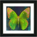 Studio Works Modern 'Lime Green Butterfly' Framed Print