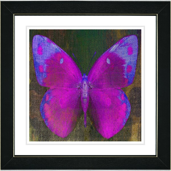 Studio Works Modern 'Grape Purple Butterfly' Framed Print