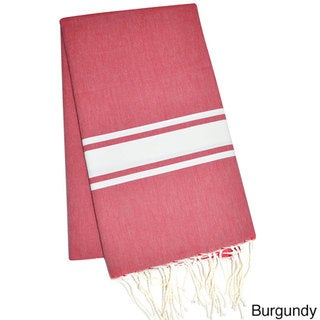 Authentic Fouta Natural Cotton Striped Bath & Beach Towel (Tunisia)