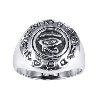 'Eye of Horus' Egyptian Hierographic Sterling Silver Ring (Thailand)