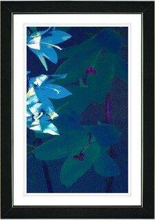 Studio Works Modern 'Isabels - Blue' Framed Print