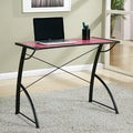 Office Star Products Reversible Black/Pink Trace Top Computer Desk