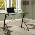 Office Star Products Reversible Black/Green Trace Top Computer Desk