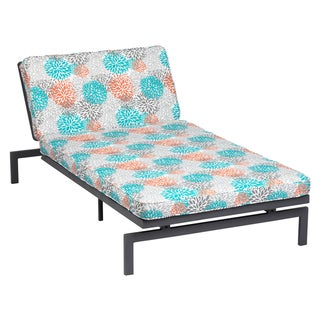 Alyssa Tropic Bloom Adjustable Outdoor Chaise with Corded Cushion