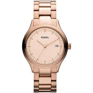Fossil Women's 'Archival' Rose-goldtone Watch