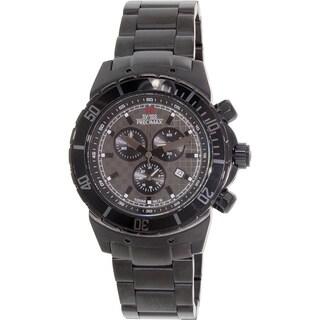 Swiss Precimax Men's 'Pursuit Pro' Black/ Grey Dial Swiss Chronograph Watch