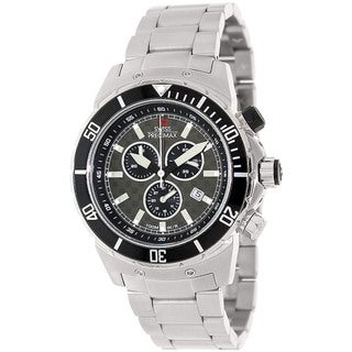 Swiss Precimax Men's 'Pursuit Pro' Grey Dial Two-Tone Stainless-Steel Swiss Chronograph Watch