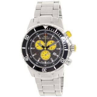 Swiss Precimax Men's 'Pursuit Pro' Grey/Yellow Dial Swiss Chronograph Watch