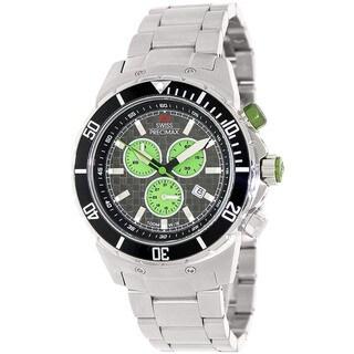 Swiss Precimax Men's 'Pursuit Pro' Grey/ Green Chronograph Watch