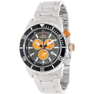 Swiss Precimax Men's 'Pursuit Pro' Grey/ Orange Swiss Chronograph Watch