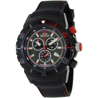Swiss Precimax Men's 'Pursuit Pro Sport' Black/ Grey Dial Swiss Chronograph Watch
