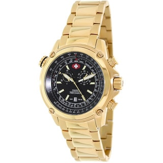 Swiss Precimax Men's Squadron Pro Gold Steel Chronograph Watch