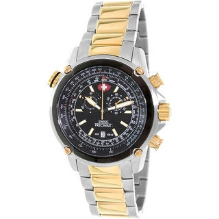 Swiss Precimax Men's Squadron Pro Two-Tone Steel Chronograph Watch with Date Display