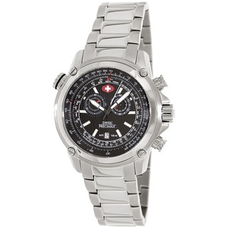 Swiss Precimax Men's Squadron Pro Silver Steel Chronograph Watch