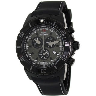 Swiss Precimax Men's 'Pursuit Pro Sport' Black Dial Swiss Chronograph Watch