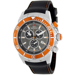 Swiss Precimax Men's 'Pursuit Pro Sport' Grey/ Orange Swiss Chronograph Watch