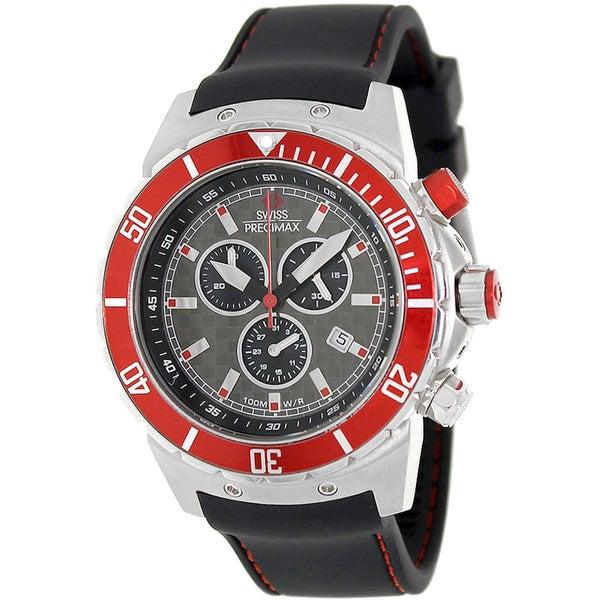 Swiss Precimax Men's 'Pursuit Pro Sport' Grey/ Red Swiss Chronograph Watch