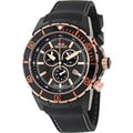 Swiss Precimax Men's 'Pursuit Pro Sport' Black/ Rose-goldtone Swiss Chronograph Watch