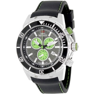 Swiss Precimax Men's 'Pursuit Pro Sport' Grey/ Green Dial Swiss Chronograph Watch