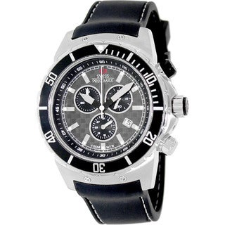 Swiss Precimax Men's 'Pursuit Pro Sport' Black/ Grey Swiss Chronograph Watch