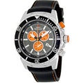 Swiss Precimax Men's 'Pursuit Pro Sport' Black/ Orange Swiss Chronograph Watch