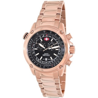 Swiss Precimax Men's Squadron Pro Rose Gold Steel Chronograph Watch