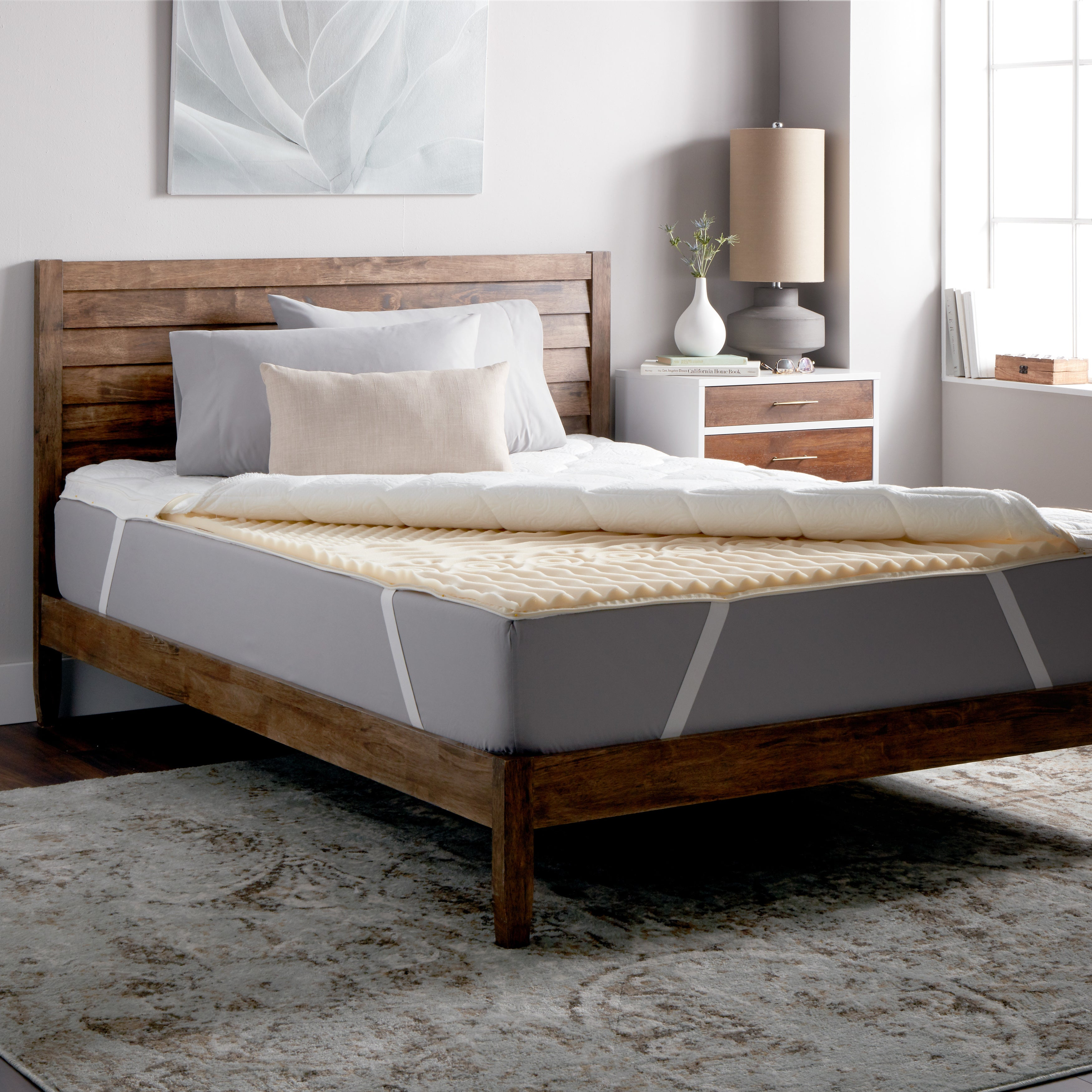 Select Luxury Dream Deluxe Quilted 3.5-inch Zoned Memory Foam Mattress Topper at Sears.com