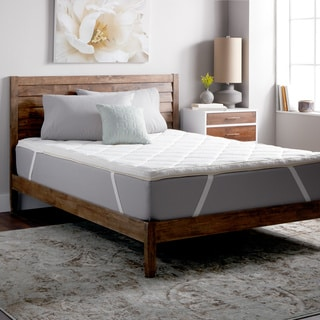 Select Luxury Dream Quilted 2.5-inch Zoned Memory Foam Mattress Topper