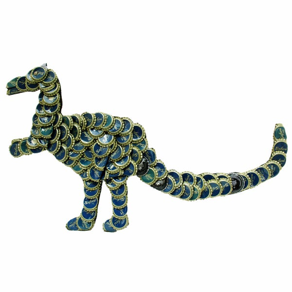 Bottle Cap T-Rex Wall Plaque (Kenya)