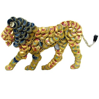 Bottle Cap Lion Wall Plaque (Kenya)