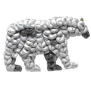 Bottle Cap Polar Bear Wall Plaque (Kenya)