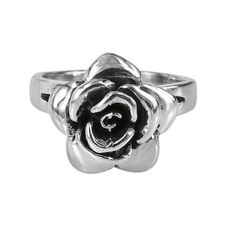 Raised Blooming Rose .925 Sterling Silver Ring (Thailand)