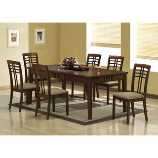 Walnut Veneer Dining Table with 18-inch Extension