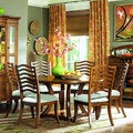 Golden Oak 60-inch Round Dining Table