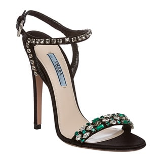Prada Women's Jewel Embellished Satin Evening Heels