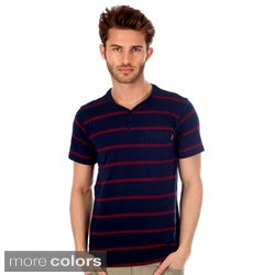 191 Unlimited Men's Striped V-neck Tee