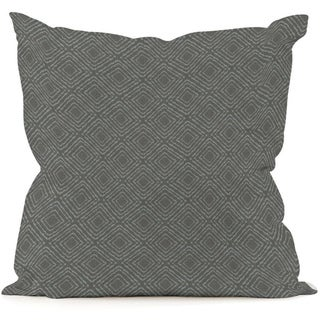Shadow Teal Geometric Throw Pillow