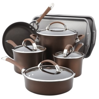 Circulon Symmetry Chocolate Hard Anodized Nonstick 9-piece with 2-piece Bakeware Set