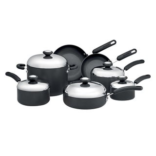 Circulon Total Hard-anodized Nonstick Dark Grey 12-piece Cookware Set