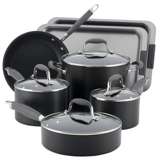 Anolon Black Hard-anodized Nonstick 9- PC Cookware & 2- PC Bakeware