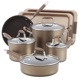 Anolon Advanced Bronze Hard Anodized Nonstick 9-PC Cookware & 2-PC Bakeware