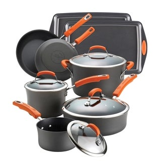 Rachael Ray Hard-anodized II Nonstick Orange 12-piece Set with $20 Mail-in Rebate
