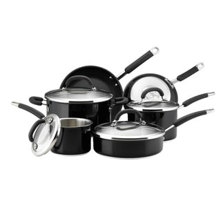 Rachael Ray Black Colored Stainless Steel 10-piece Set with $20 Mail-in Rebate