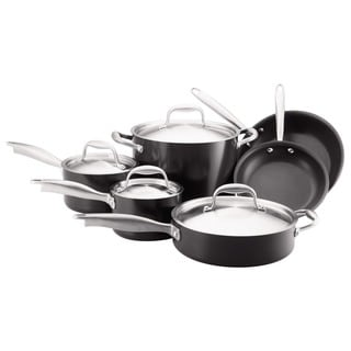 Anolon Silver/Black Titanium 10-piece Cookware Set