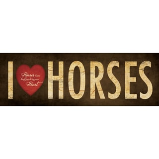 Stephanie Marrott 'I Love Horses' Paper Print (Unframed)