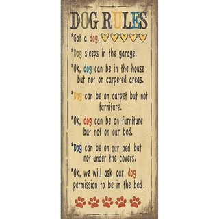 Jo Moulton 'Dog Rules' Paper Print (Unframed)