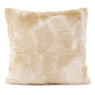 Natural Luscious Vegan Fur Throw Pillow