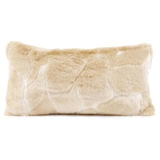 Natural Luscious Vegan Fur Kidney Pillow