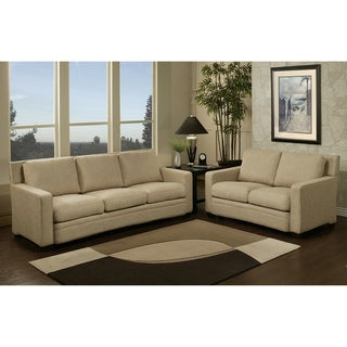 Abbyson Living Preston Fabric Sofa and Loveseat Set